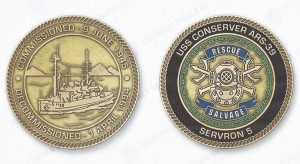 USS Conserver Challenge Coin